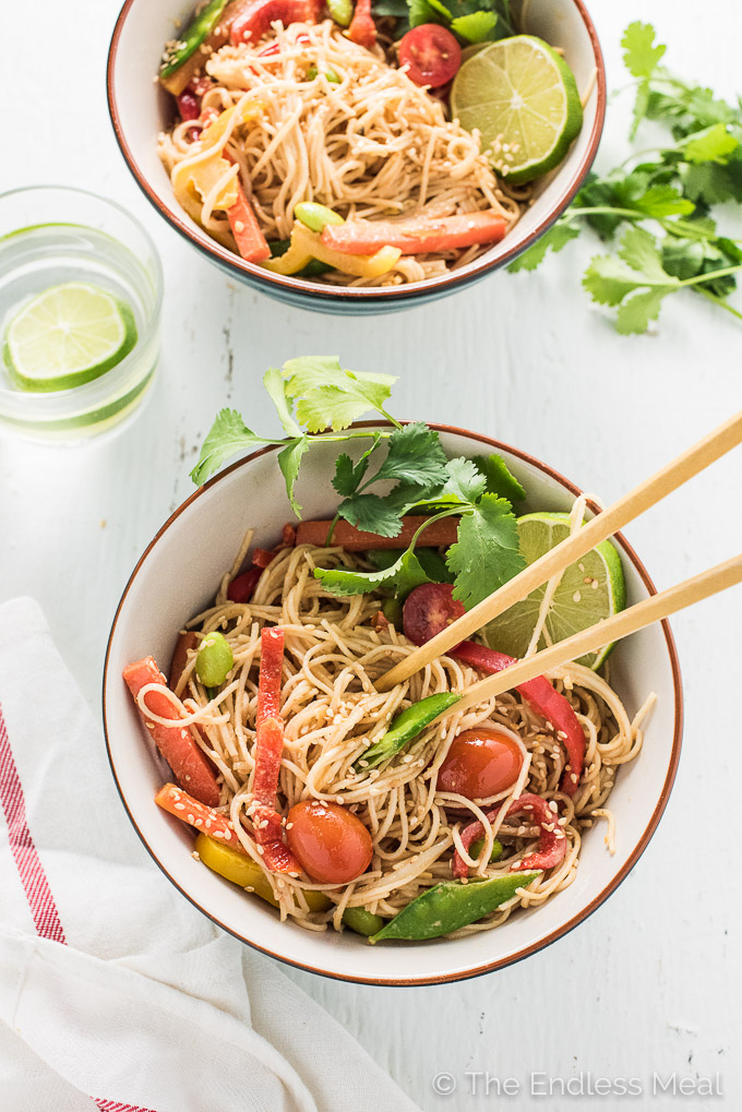Creamy Coconut Peanut Noodles The Endless Meal