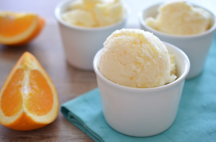 Orange Creamsicle Sorbet