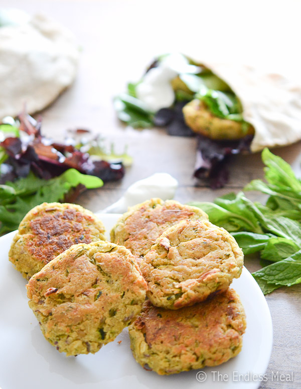 Healthy Chickpea and Zucchini Fritters
