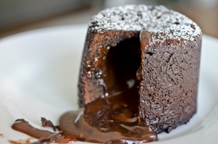 Chocolate Lave Cake with Salted Caramel