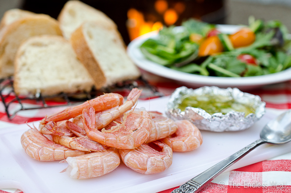 Camping Food: Prawns with Lemon Garlic Butter