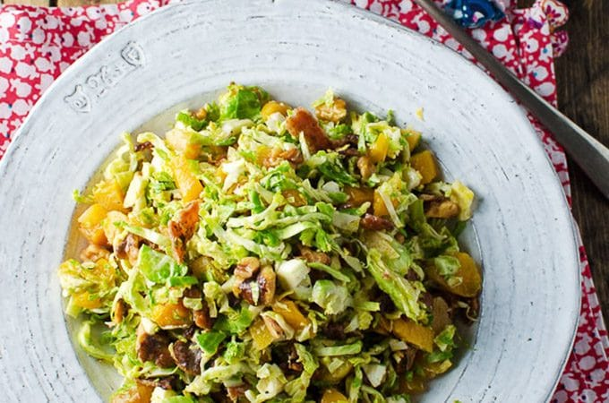 Shredded Brussels Sprouts Salad | theendlessmeal.com