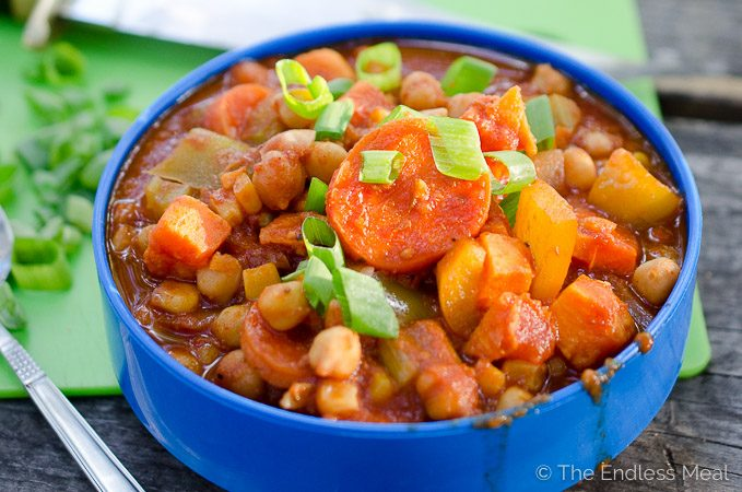 Chickpea and Yam Chili