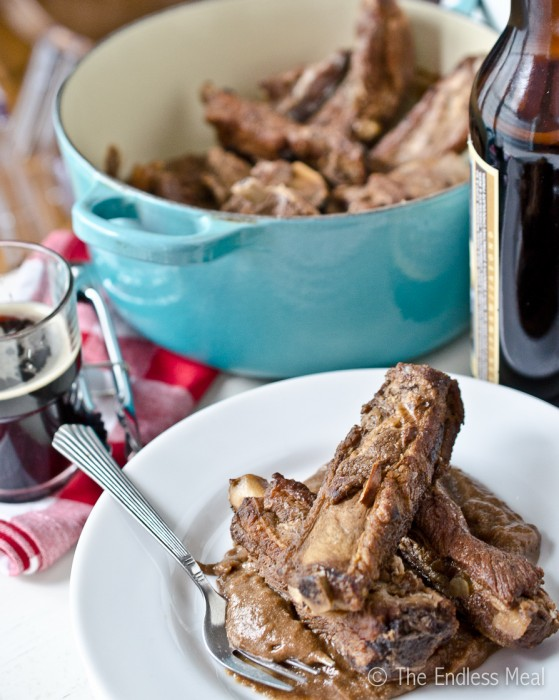 Dark Chocolate and Stout Braised Ribs by The Endless Meal