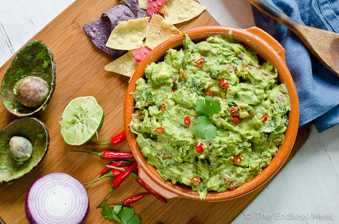 Easy Smoky Chipotle Guacamole