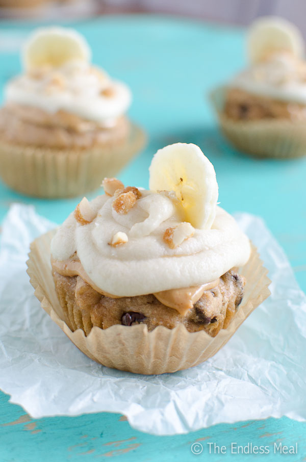 If you make these Peanut Butter Banana Cupcakes with Banana Frosting ...