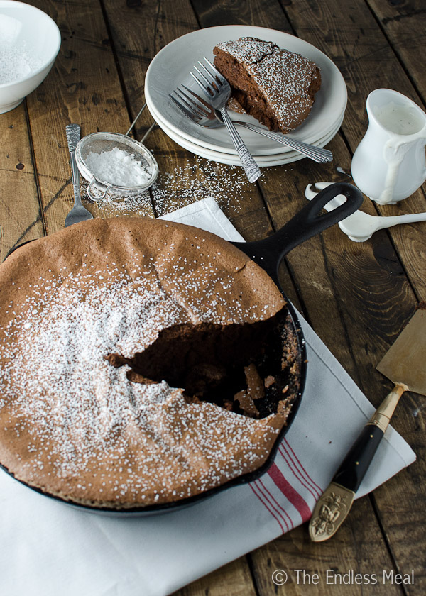 ... Chocolate Skillet Soufflé and some tonka bean cream for three reasons