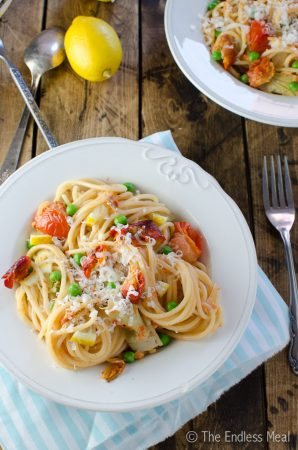 20 Minute Lemony Smoked Salmon Pasta
