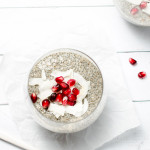 Pomegranate Chia Seed Pudding with Silk Cashew Milk {vegan + gluten free}