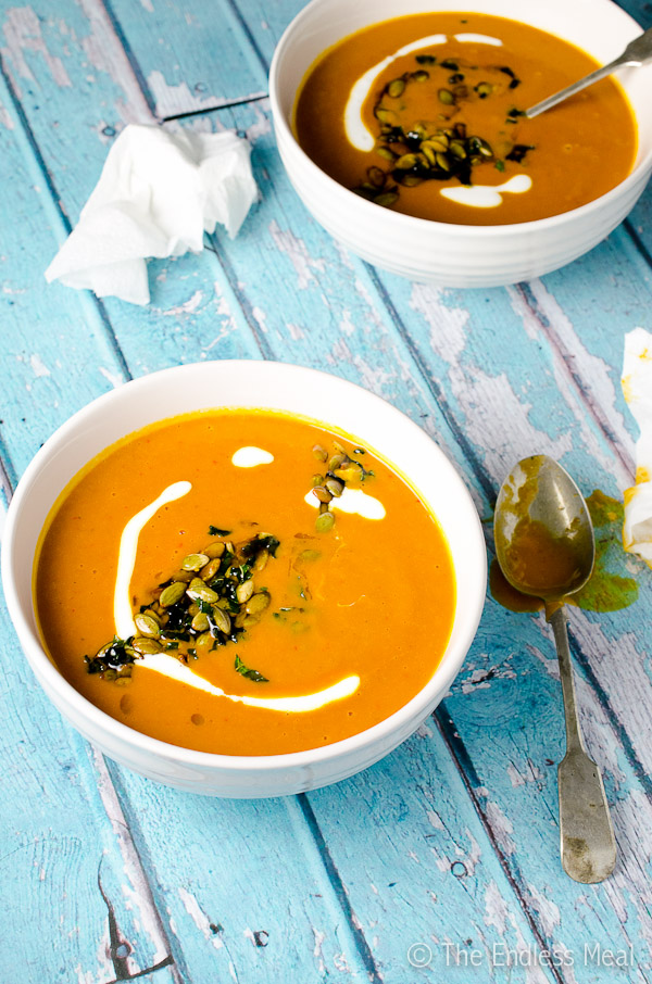 Spicy Harissa Butternut Squash Soup | The Endless Meal