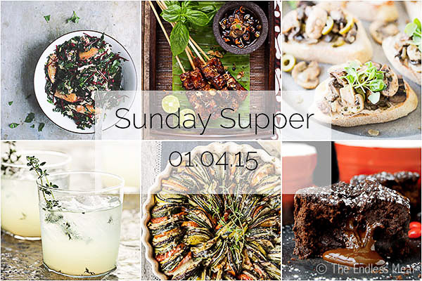Sunday Supper :: 01.04.15 :: a vegan + gluten free dinner party menu including a detailed timeline to help you get everything done on time.
