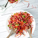 Carrot Beet and Apple Slaw with Mint and Cumin Vinaigrette