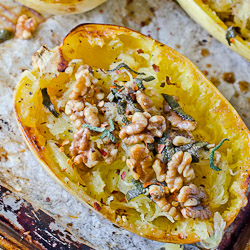 Roasted Spaghetti Squash with Brown Butter and Walnuts & a review of Mark Bittman's How to Cook Everything Fast