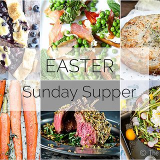 A delicious Easter Sunday Supper menu and timeline :: by The Endless Meal
