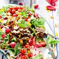 BBQ Chicken Salad Bowl with Raspberry Basil Vinaigrette