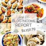 June Blog Income Report :: learn about the income that is made through the food blog The Endless Meal and the traffic it receives :: theendlessmeal.com
