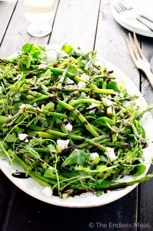Asparagus Salad with Reduced Balsamic Vinaigrette