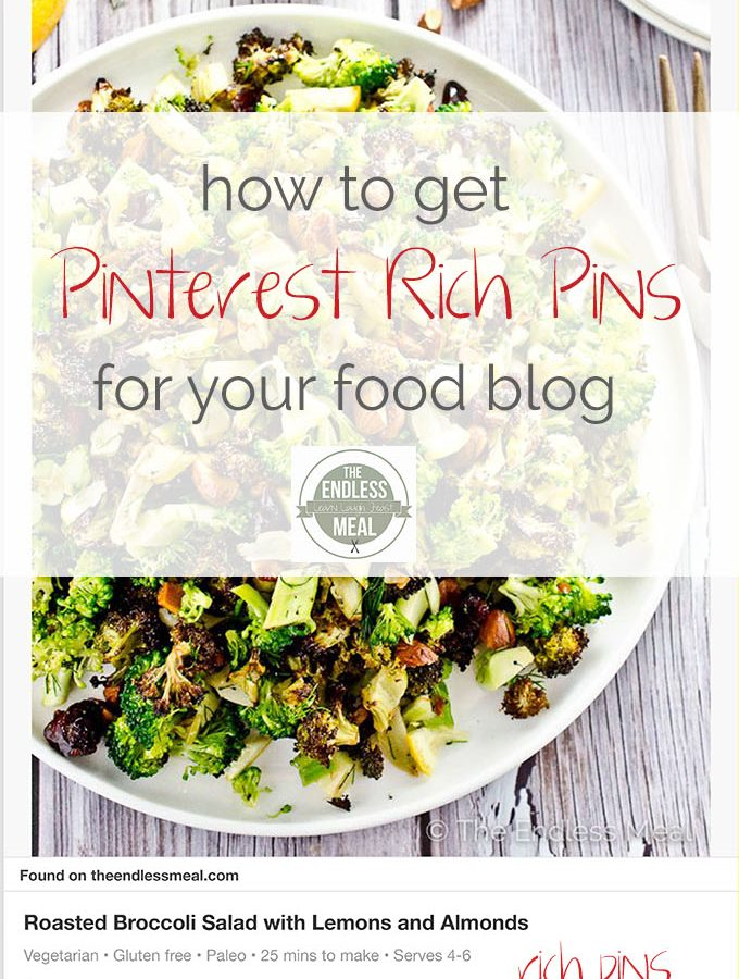 How to Get Pinterest Rich Pins for Your Food Blog