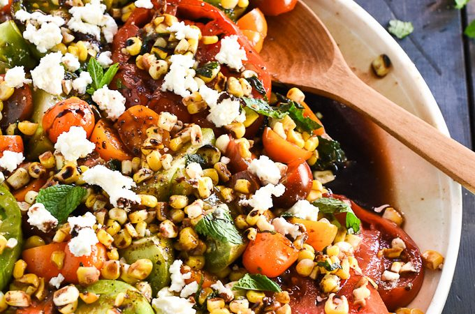 Summer Tomato and Grilled Corn Salad | theendlessmeal.com