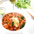 Sweet Potato Noodles with Sriracha Cilantro Cashew 'Cream' Sauce | a delicious vegan + paleo dinner that takes less than 30 minutes to make | theendlessmeal.com