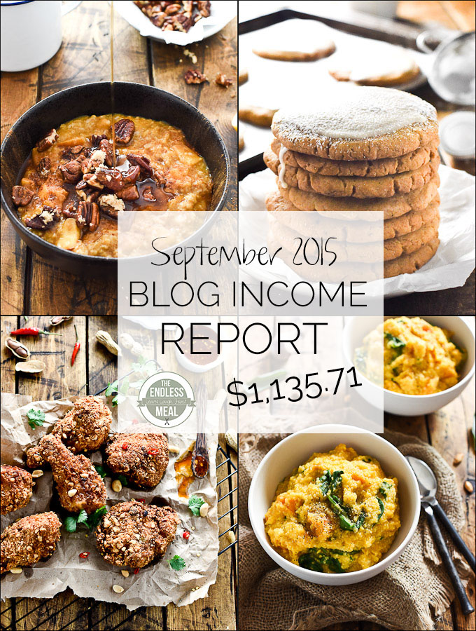 Find out the inside details of how the food blog The Endless Meal earns an income. Plus get valuable food blogging tips in this month's Blog Income Report. | theendlessmeal.com