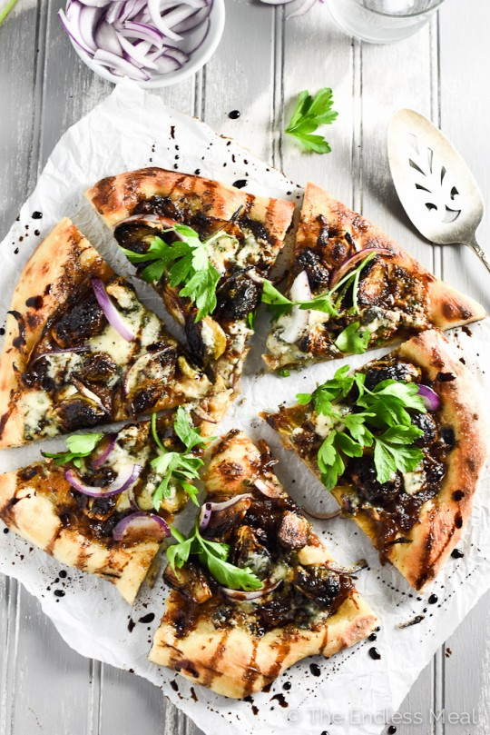 Blue Cheese and Roasted Brussels Sprouts Pizza | TEM