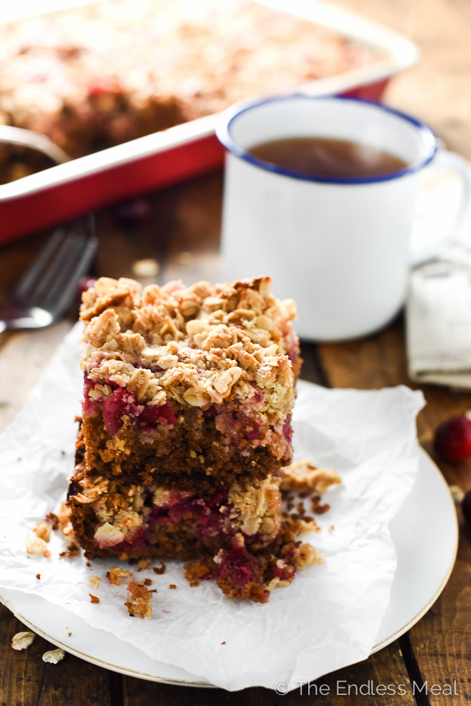 Healthy Cranberry Coffee Cake | This delicious coffee cake is dairy ...