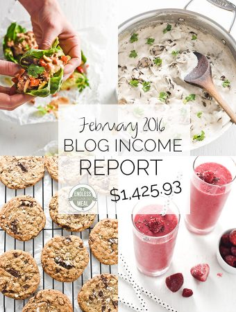February Food Blog Income Report