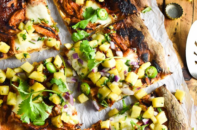 The 15 Best Homemade Pizzas | BBQ Pulled Turkey Pizza with Fiery Pineapple Salsa by The Endless Meal
