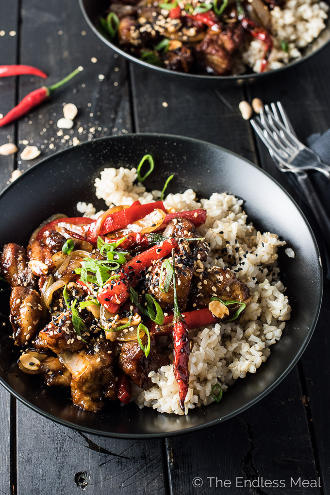 Spicy Kung Pao Chicken...