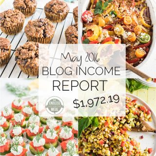 Blog Income Report for the food blog The Endless Meal. Learn all about how TEM earns an income through blogging and where the blog traffic comes from. | theendlessmeal.com
