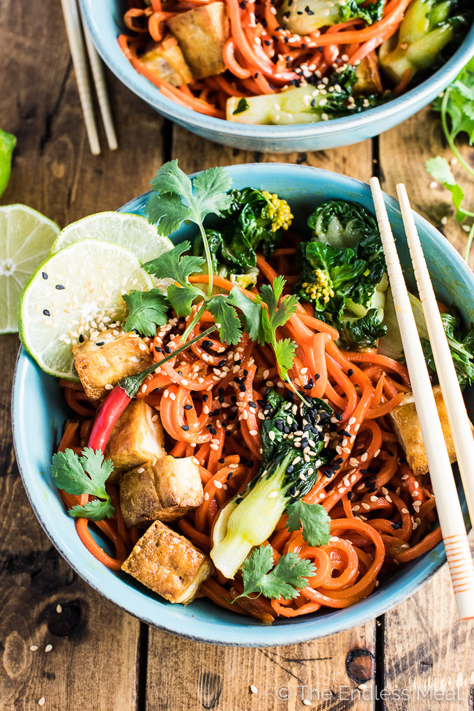 ... carrot noodle stir fry that I've been going crazy about over here
