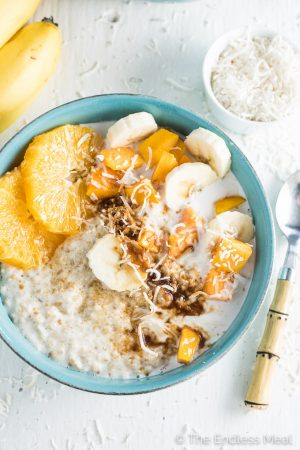 Tropical Summer Coconut Oatmeal