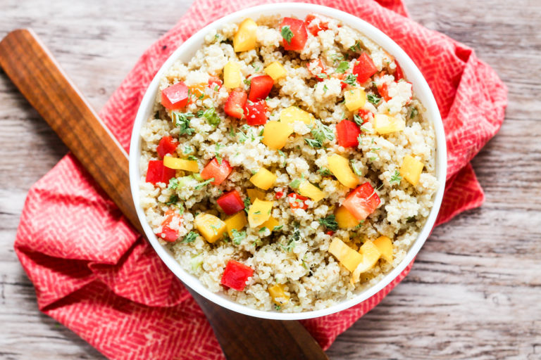 Bell Pepper Quinoa Pilaf by Blackberry Babe | The 15 Best Healthy Side Dishes for Your Summer BBQs