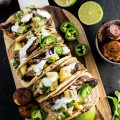 These healthy and delicious Grilled Jerk Chicken Tacos are topped with gold kiwifruit salsa and served with a side of sweet coconut plantations. Fire up your BBQ and get outside for dinner.   theendlessmeal.com