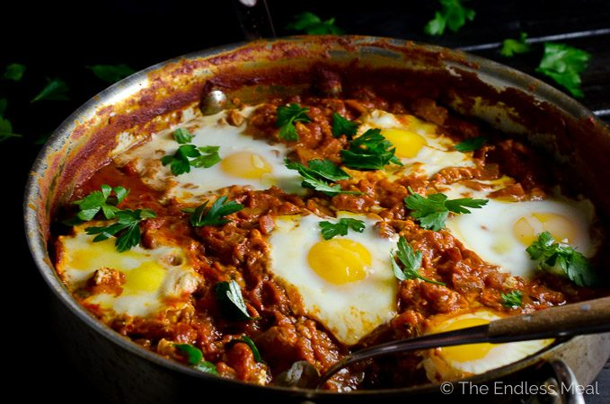 Make Ahead Harissa Shakshuka