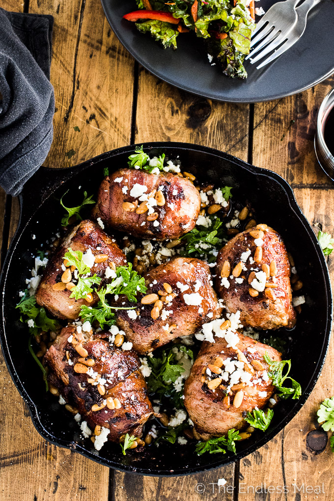 Bacon Wrapped Mediterranean Chicken by The Endless Meal | 15 Easy and Healthy Dinners for Back to School Season