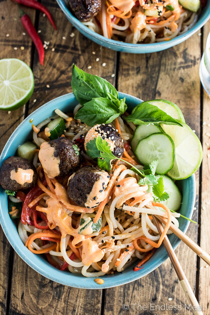 Banh Mi Noodle Bowls by The Endless Meal | 15 Easy and Healthy Dinners for Back to School Season