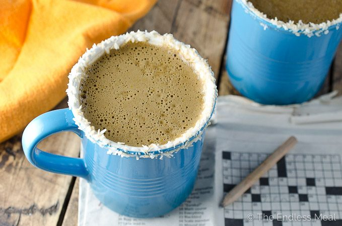 Healthy Pumpkin Coconut Latte