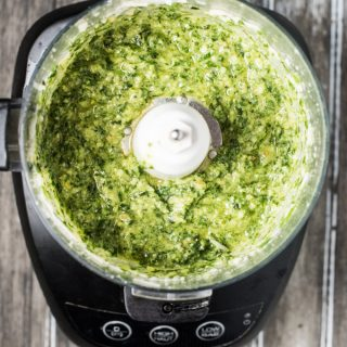 This everyday Easy Pesto Recipe is the only pesto recipe you need. It's delicious on pasta, sandwiches, or even by the spoonful. Once you learn how to make this basic basil pesto recipe, you'll have the skills you need to get creative with your pesto. | theendlessmeal.com
