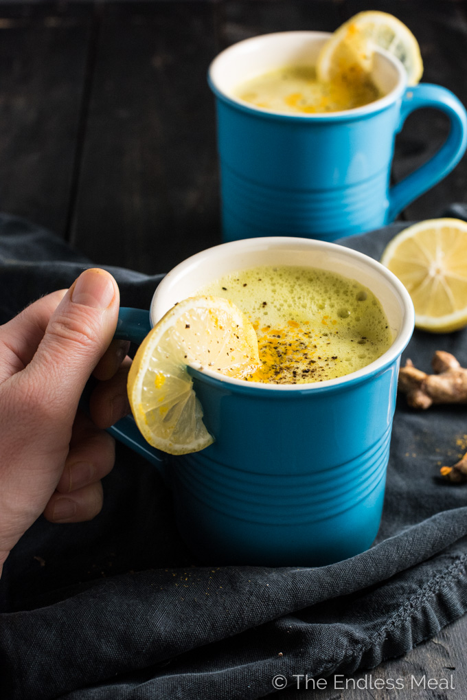 Magic Turmeric Tea is my formula for staying healthy through the winter cold and flu season. It's a powerful, supercharged drink that tastes great, too. | theendlessmeal.com