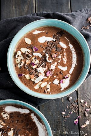 Mocha Nut Winter Smoothie Bowl
