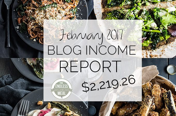 Food Blog Income Report for February 2017. Learn traffic building and blog monetization strategies used by The Endless Meal. | theendlessmeal.com